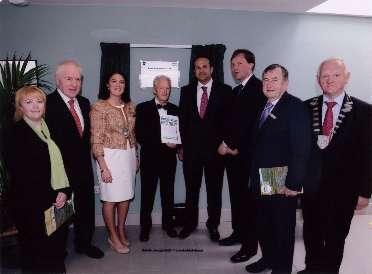 Minister Varadkar presented with Tralee To Fenit Greenway Media Pack