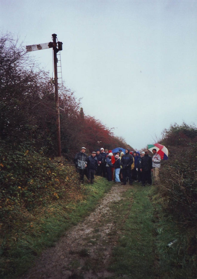 GST group along the Tralee-Fenit railway in December 2004